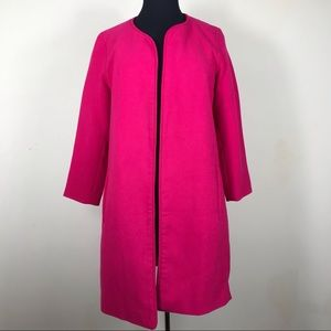 Harlowe & Graham Bright Pink Open Front Coat
